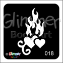 Picture of Flaming Hearts BG-18 - (1pc)