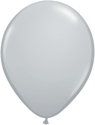 "Picture of Qualatex 5"" Round - Gray (100/bag)"