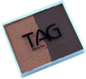 Picture of TAG Brown & Mid Brown Split Cake 50g