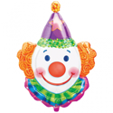 Picture of Juggles Foil Balloon - Mini Shape (Clown Face 13 inch)