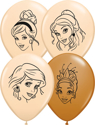 "Picture of 5"" Assorted Disney Princesses ( Blush & Mocha) - Qualatex Balloon (100/bag)"