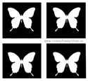 Picture of Mini Butterfly Stencil (4 in 1stencil)