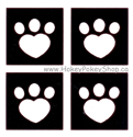 Picture of Mini Heart Paw Stencil (4 in 1)