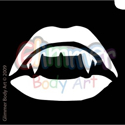 Picture of Vampire Kiss Stencil ( 5pc pack )