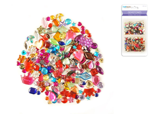 Picture of Gemstones Assorted shapes-colors-sizes 30g -CM