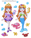 Picture of Foam-Fun Dress-Me-Up Stickers (Princess - Mermaid)