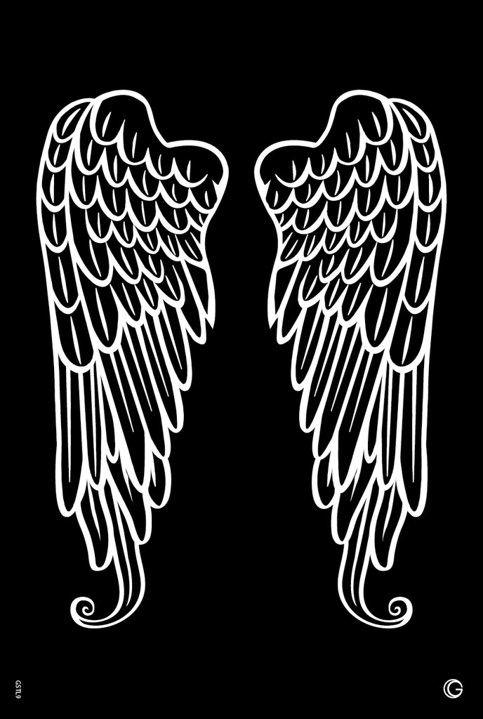 Picture of Elite - HD Stencil - Angel Wings - L09 (1pc/pk)