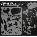 Picture of Tattoo Pro Stencil - Key & Locket (ATPS-123)