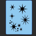 Picture of Star Burst Stencil - SOBA-22