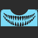 Picture of Scary Teeth Stencil - SOBA-62