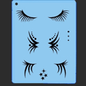 Picture of Eye Lashes Stencil - SOBA-16