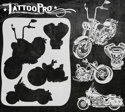 Picture of Tattoo Pro Stencil - Motorcycles (ATPS-142)
