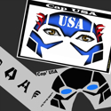 Picture of Cap USA Stencil Eyes  09SE - (8 YRS and UP)