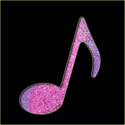 Picture of Single Music Note - Sparkle Stencil (1pc)