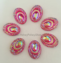 Picture of Big Peacock Gems - Bright Pink - 13x18mm (7 pc.) (SG-BP4)