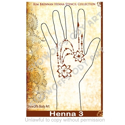 Picture of Henna Stencil 3 - Flower Swag - SOBA