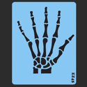 Picture of Skeleton Hand (SMALL) Stencil - SOBA-67