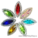 Picture of Double Pointed Eye Gems - Assortment - 11x24mm (7 pc.) (AG-DPE)