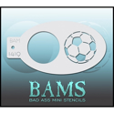 Picture of Bad Ass Mini Stencil - Soccer Ball - 1419
