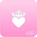 Picture of Pink Power Face Painting Stencil (1081) - Crown Heart