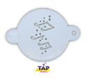 Picture of TAP 011 Face Painting Stencil - Music