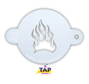 Picture of TAP 045 Face Painting Stencil - Fire Flame