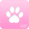 Picture of Pink Power Face Painting Stencil (1021) - Paw Print