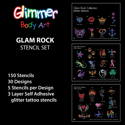 Picture of Glam Rock Stencil Set (150 pcs.)
