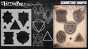 Picture of Tattoo Pro Stencil -  Geometric Shapes (ATPS171)