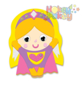 Picture of Krafty Kids Kit: DIY Foam Friends Craft Kit - Super Girl (CK192-A)