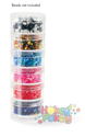 Picture of Craft & Bead Storage:1.5''x 3/4''- Screw-Stack Canisters - 6 Pieces - PB810