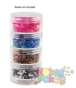Picture of Craft & Bead Storage:1.9''x 1''- Screw-Stack Canisters - 4 Pieces - PB811