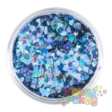 Picture of Art Factory Chunky Glitter - Blue Hearts - 50ml