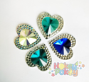 Picture of Double Heart Gems - Frozen Assortment - 16mm (7 pc.) (AG-DH1)
