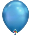 "Picture of 11"" Chrome BLUE round balloons - 100 count"