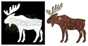 Picture of Moose - Sparkle Stencil (1pc)