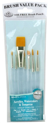Picture of R&L - Gold Taklon Brush Set (RSET-9157) 7pc