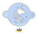 Picture of TAP 089 Face Painting Stencil - Pretty Unicorn Centerpiece