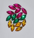 Picture of Pointed Eye Gems - Carnival Set - 7x15mm (15 pc) (AG-PE4)