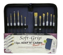 Picture of Soft- Grip KEEP N' CARRY 12 Pc. Brush Set -short handle ( RSET-KCSG)