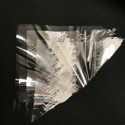 Picture of Cellophane Triangles (pack of 20) White Stars