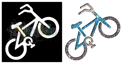 Picture of Bike - Sparkle Stencil (1pc)
