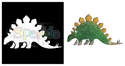 Picture of Stegasaurus - Sparkle Stencil (1pc)