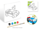 "Picture of Krafty Kids: Paint-It-Yourself Paper Canvas (7.8""x7.8"") - Supercar"