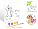 "Picture of Krafty Kids: Paint-It-Yourself Paper Canvas (7.8""x7.8"") - Rocking Horse"
