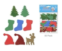 Picture of Foam-Fun Glitter Sticker Shapes - Trees & Reindeer (KX082)