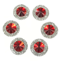 Picture of Double Round Gems - Red - 16mm (6 pc.) (SG-DRR)