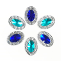 Picture of Double Oval Gems - Marine Set - 13x18mm (6 pcs) (AG-DO5)