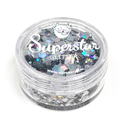 Picture of Superstar Chunky Glitter - Laser Silver (8ml)