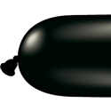 Picture of 350Q Latex Balloons, Onyx Black (100/bag)
